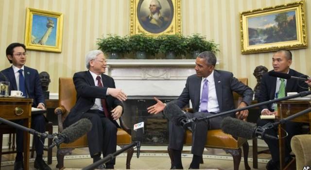 Bài phát biển của Tổng thống Mỹ Obama sau cuộc gặp với Tổng Bí thư