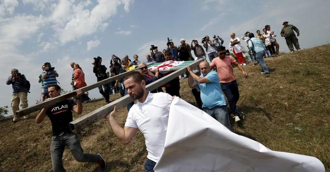 Biểu tình chống Nga tại thủ đô Gruzia