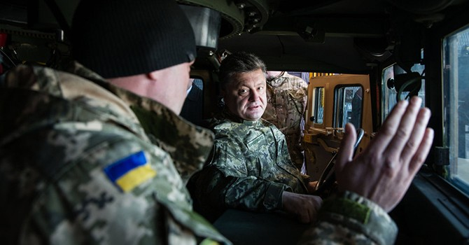 Ông Poroshenko hứa rút pháo cỡ nòng nhỏ khỏi đường phân chia Donbass