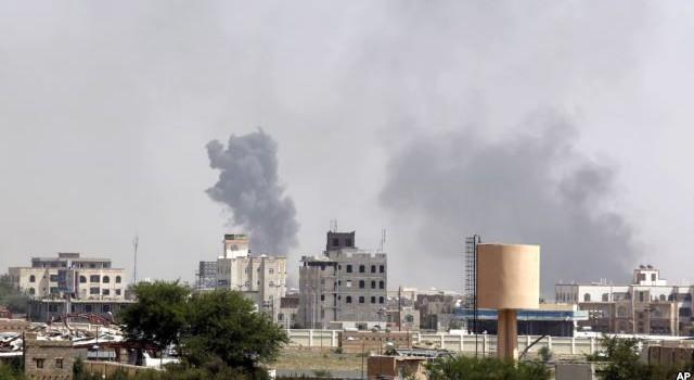 Liên quân do Saudi Arabia lãnh đạo oanh kích thủ đô Yemen