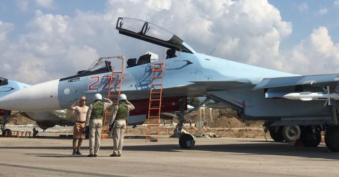 """Tiêm kích Nga thực hiện 64 phi vụ """"săn"""" 55 mục tiêu IS tại Syria"""