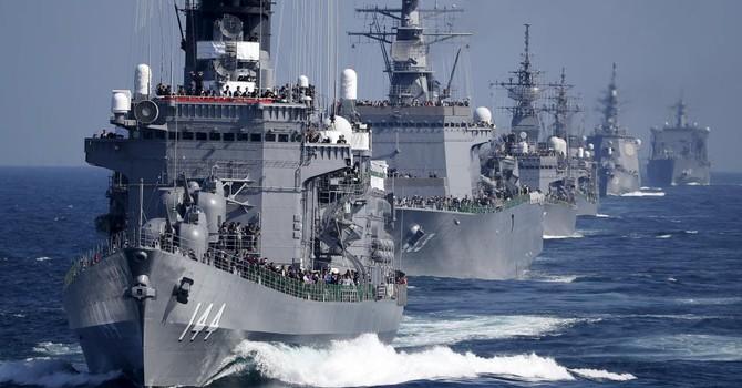 Hải quân Nhật Bản phô trương lực lượng hùng hậu