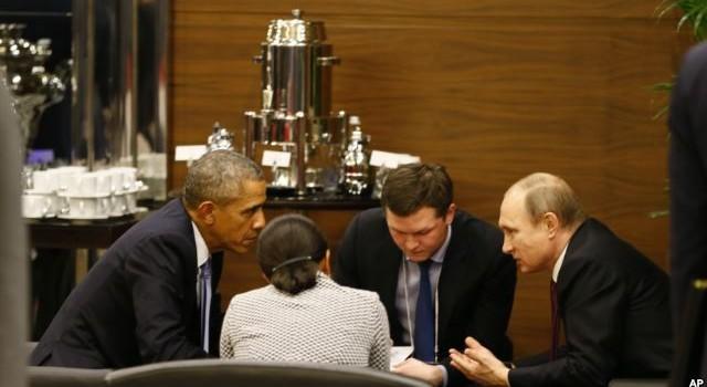 Ông Obama và ông Putin gặp nhau 35 phút thỏa hiệp chuyện Syria