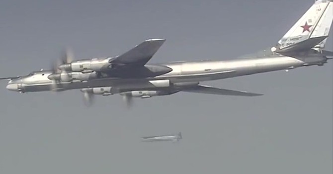Siêu máy bay Tu-160 và Tu-95MS Nga lần đầu trút bom xuống Syria