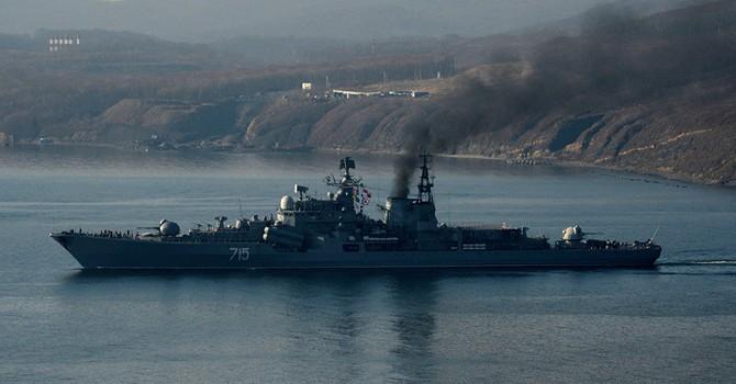 Tàu chiến Nga rời Đà Nẵng đi Thượng Hải