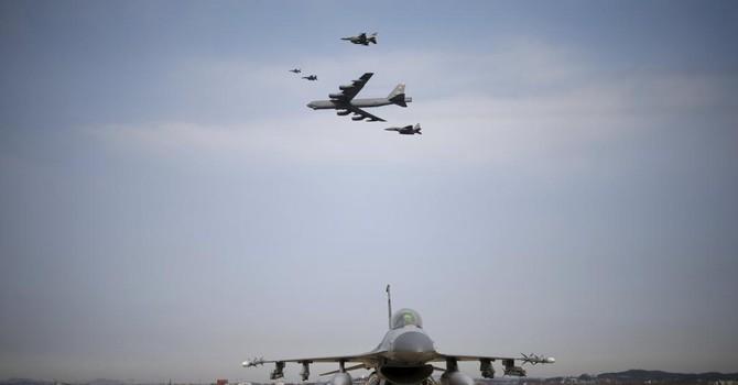B-52 Mỹ biểu dương uy lực trên bán đảo Triều Tiên