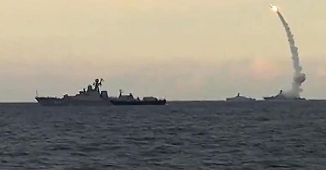 Chiến hạm Nga mang tên lửa Kalibr đã đến bờ biển Syria