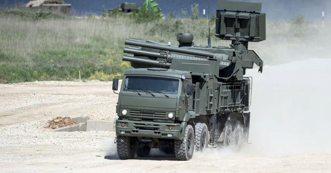 """Nga đưa các tổ hợp """"Pantsir–S"""" mới bảo vệ bầu trời Moscow"""