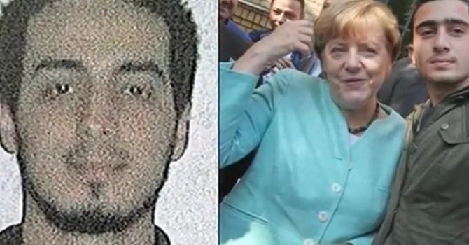 Bà Merkel từng chụp ảnh với nghi phạm vụ đánh bom tại Brussels?