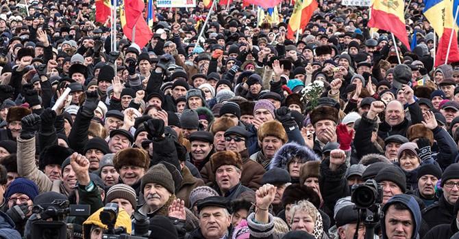 Biểu tình đòi thống nhất Moldova với Romania