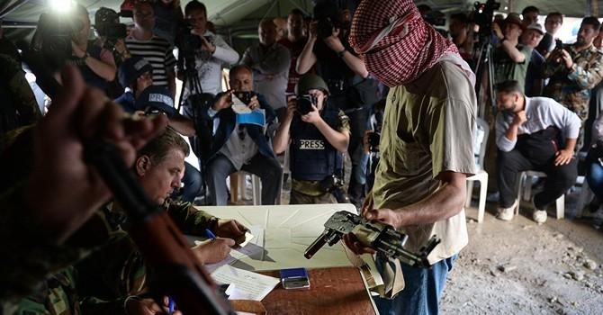Hơn 200 chiến binh hạ vũ khí đầu hàng quân chính phủ Syria
