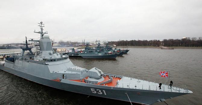Chiến hạm tàng hình Gremyashy bơi bằng động cơ Nga