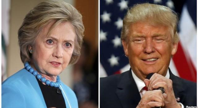 """""""Cửa"""" thắng giữa bà Clinton và ông Trump gần ngang ngửa nhau"""