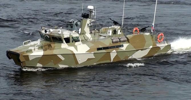 Xe bọc thép lội nước của đặc nhiệm hải quân