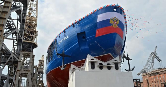 """Nga hạ thủy tàu phá băng hạt nhân """"khủng"""" nhất thế giới"""