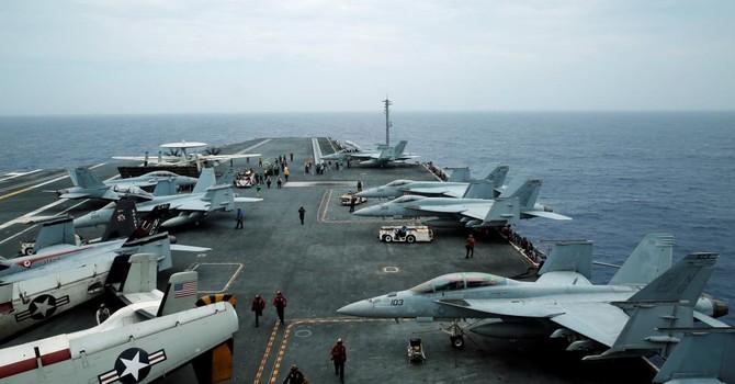 Hạm đội hàng không mẫu hạm Mỹ tập trận trên Biển Đông