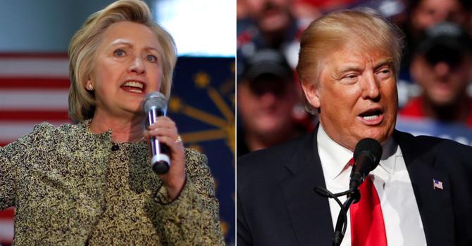 Bà Clinton hơn điểm ông Trump trong các cuộc thăm dò trước đại hội đảng