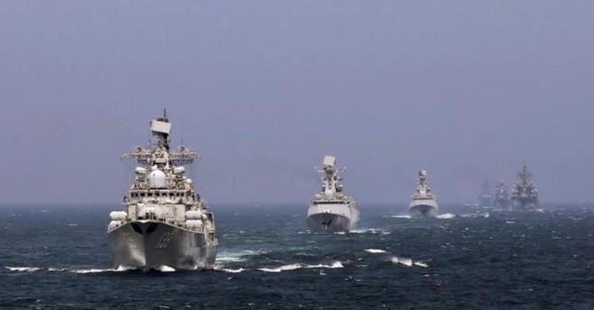 Hải quân Trung Quốc tập trận bắn đạn thật rầm rộ
