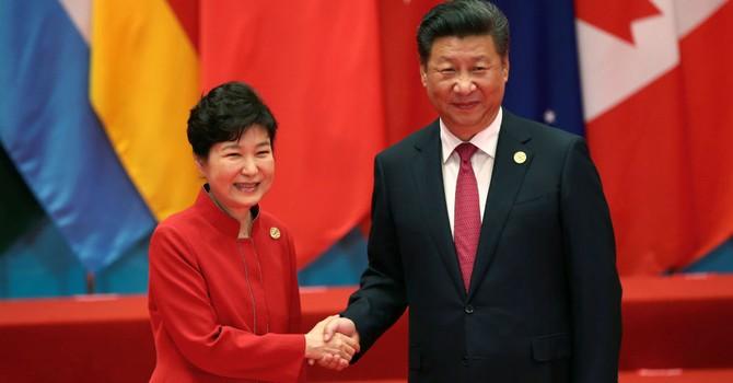 Gặp bà Park Geun-hye, ông Tập Cận Bình phản đối Mỹ triển khai THAAD ở Hàn Quốc