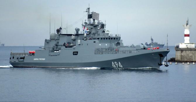 Nga điều tàu khu trục từ Crimea sang bờ biển Syria