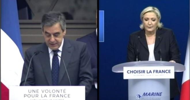 """Chuyện lạ bầu cử Pháp: Bà Le Pen bị cáo buộc """"đạo văn"""" ông Fillon"""