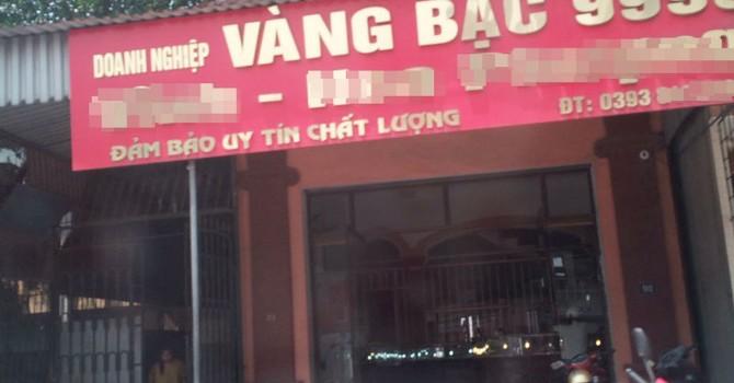 Tiệm vàng bị xiết nợ hàng trăm tỷ đồng ở Hà Tĩnh?