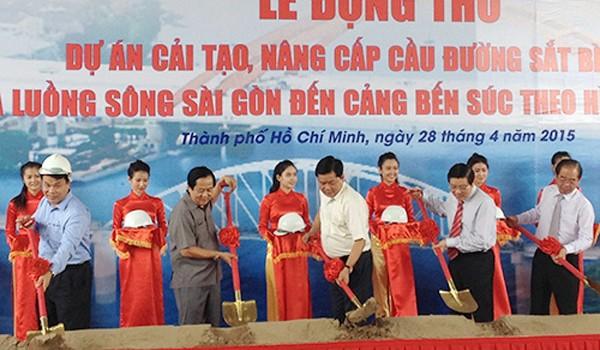 1.302 tỷ đồng đầu tư xây cầu đường sắt Bình Lợi mới và cải tạo luồng sông Sài Gòn