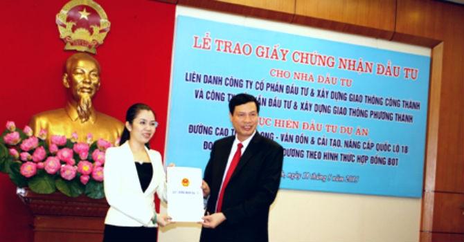 Quảng Ninh trao chứng nhận đầu tư cho dự án 14.000 tỷ đồng