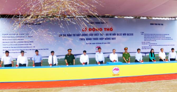 Khởi công cây cầu trị giá 1.460 tỷ đồng nối Hà Nội - Phú Thọ