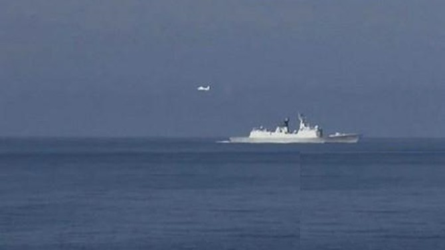 Tàu thăm dò dầu khí 571 của Trung Quốc vào gần bờ biển Bình Thuận