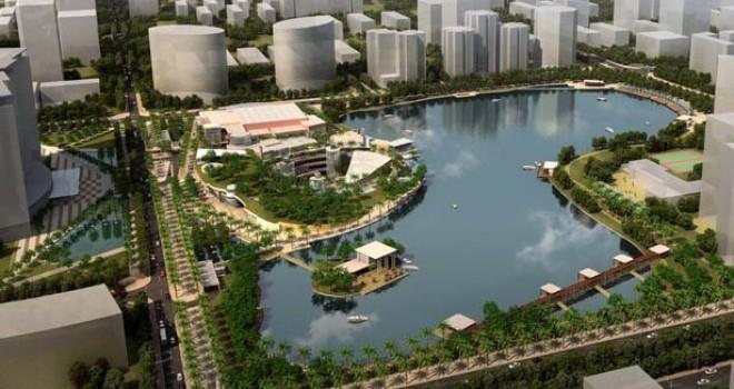 Hà Nội: Điều chỉnh quy hoạch Công viên hồ điều hòa Nhân Chính
