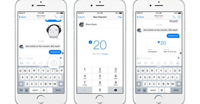 Facebook Messenger bắt đầu cho phép người dùng chuyển tiền cho bạn bè