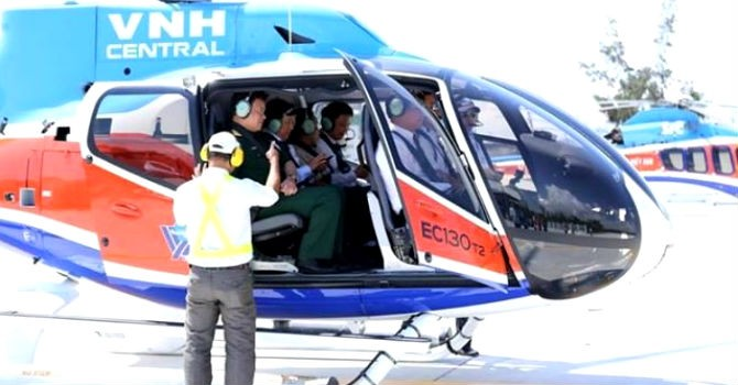 Dịch vụ bay bằng trực thăng của Uber đặt chân đến Đà Nẵng
