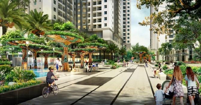 Goldmark City: Dự án nắm kỷ lục về số quảng trường và diện tích cảnh quan