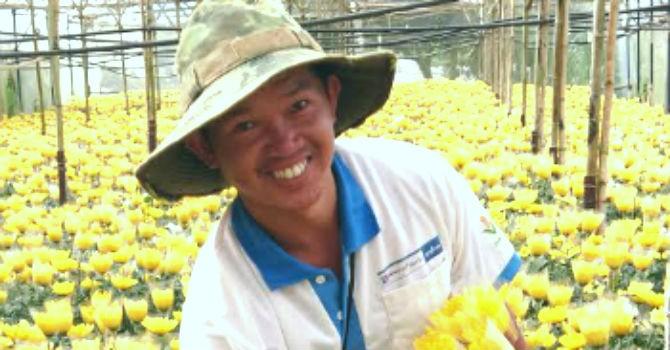 """Ông trùm """"kim cương"""" ở làng hoa Thái Phiên"""