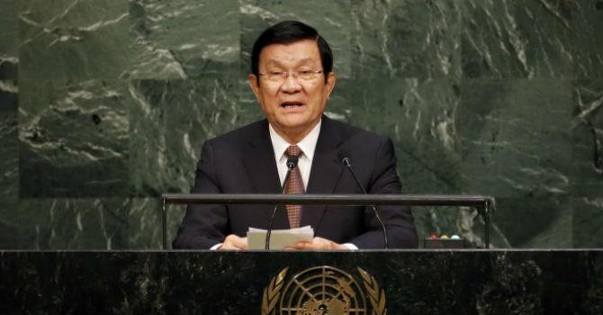 """Chủ tịch nước Trương Tấn Sang: """"Trung Quốc vi phạm luật pháp quốc tế"""""""