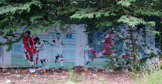 Hình ảnh Công Phượng, Arsenal, NutiFood nhếch nhác ở dự án HAGL bỏ hoang