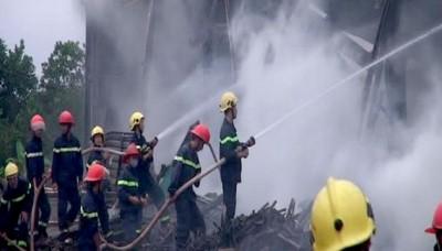 Cháy lớn tại Khu Công nghiệp Nam Đông Hà, Quảng Trị