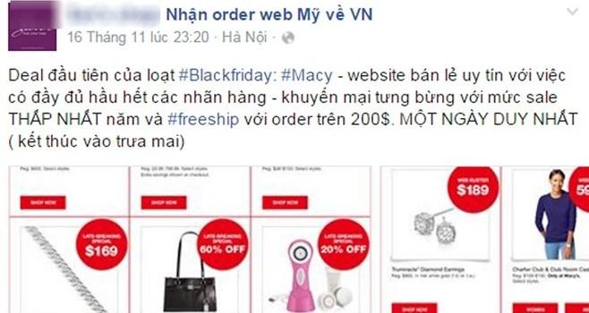 Dân buôn Việt đặt hàng Black Friday trước cả tháng