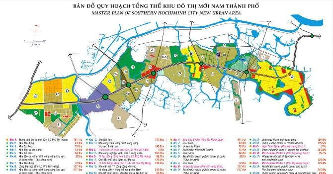 Bố trí 10ha đất tái định cư cho 4 dự án trong đô thị mới Nam TP.HCM