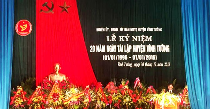 Vĩnh Tường long trọng kỷ niệm 20 năm ngày tái lập
