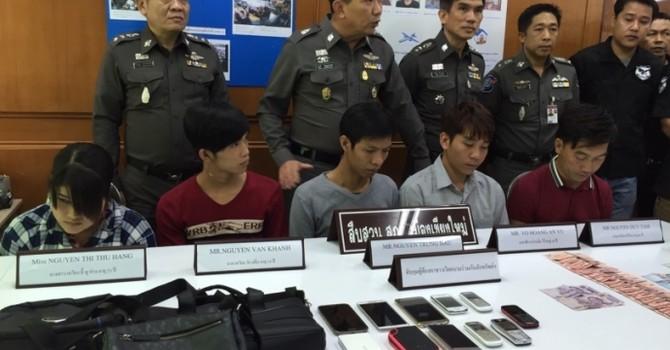 Thái Lan bắt 5 người Việt vì tội ăn cắp