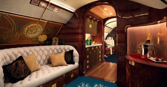 """Ngắm """"siêu"""" máy bay 83 triệu USD sang trọng như du thuyền"""