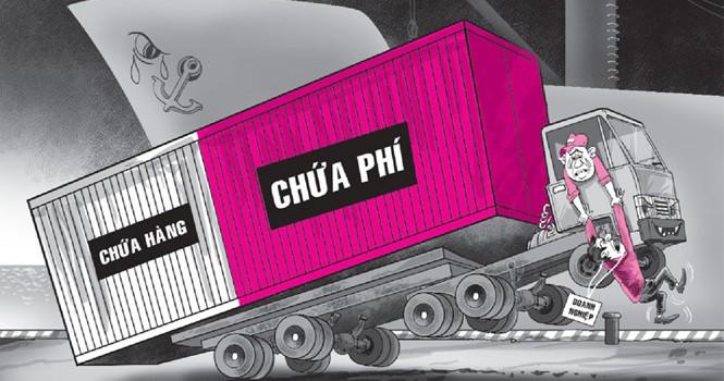 """Phí """"ngáng đường"""" xuất nhập khẩu"""