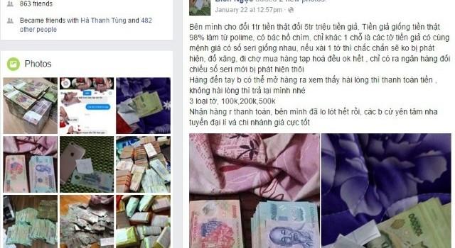 Rao bán tiền giả trên Facebook chỉ là chiêu lừa đảo
