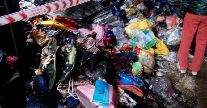 Nghệ An: Cháy chợ trong đêm, tiểu thương mất trắng 2 tỷ đồng