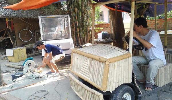 Ôtô tre chạy điện giá 100 triệu xôn xao Đà Nẵng