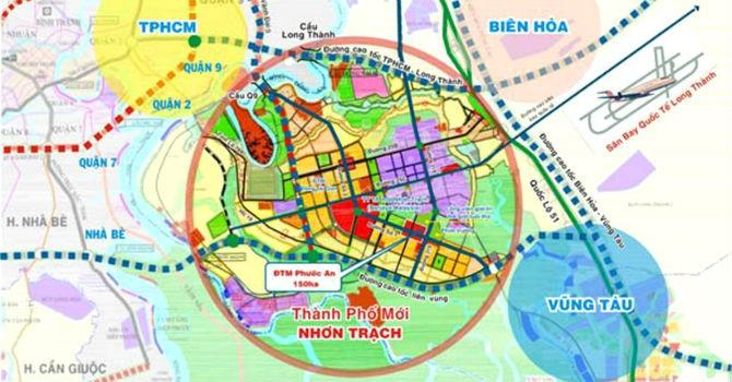 Đồng Nai: Quy hoạch đô thị mới Nhơn Trạch rộng hơn 41.000ha