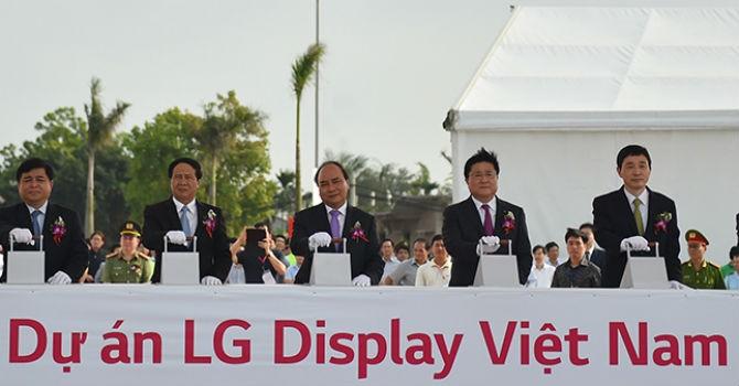Khởi công siêu dự án 1,5 tỷ USD của LG Display Việt Nam tại Hải Phòng