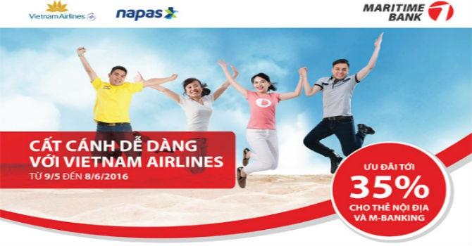 Du lịch hè với vé máy bay giảm đến 35% cho khách hàng Maritime Bank